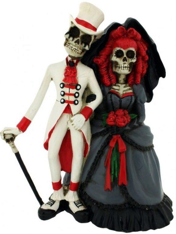 Photo of Steampunk Skeleton Wedding Figurine 14cm