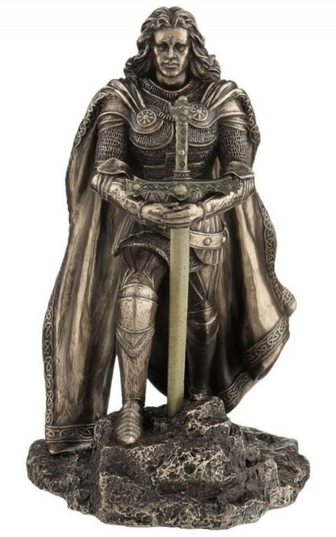 Photo of Sword in the Stone Letter Opener Holder Bronze Figurine
