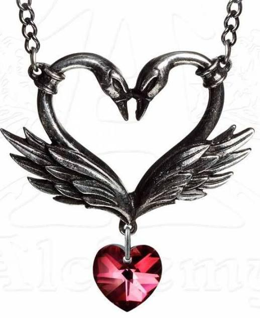Photo of The Black Swan Romance Heart Pendant