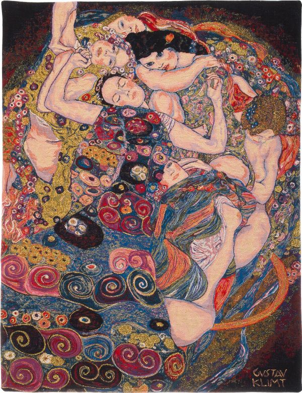 Phot of The Virgin By Gustav Klimt Wall Tapestry