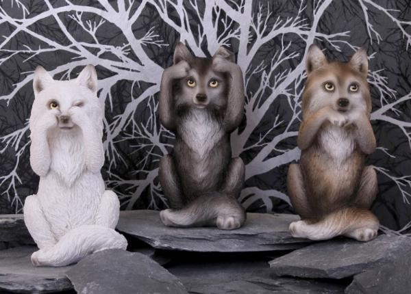 Photo of Three Wise Wolves Ornaments