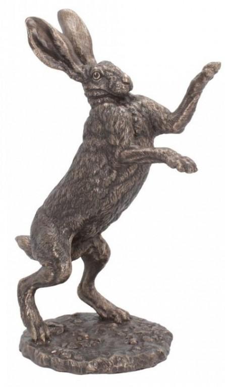 Photo of Upright Boxing Hare Bronze Figurine (Andrew Bill)