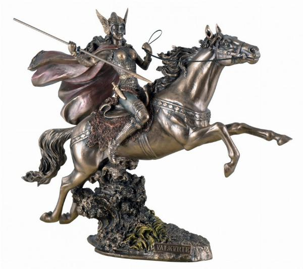 Photo of Valkyrie Riding Horse Bronze Statue 32cm