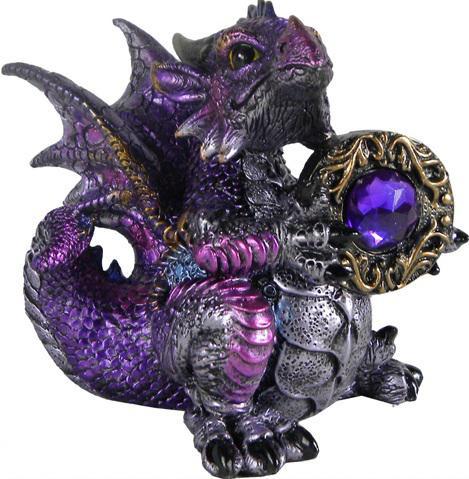 Photo of Amethyst Dragonling Figurine (Alator) 13cm