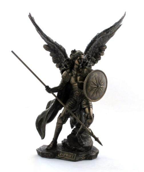Photo of Archangel Raphael Bronze Figurine