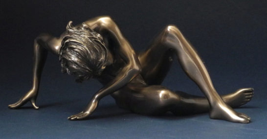 Photo of Awakening Nude Female Bronze Figurine