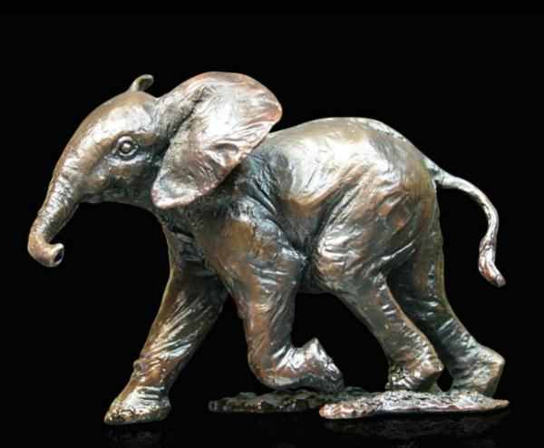 Photo of Baby Elephant Running Bronze (Limited Edition)