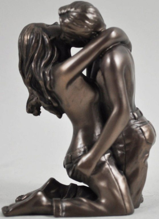 Photo of Being With You Bronze Figurine (Love is Blue) 10cm Small