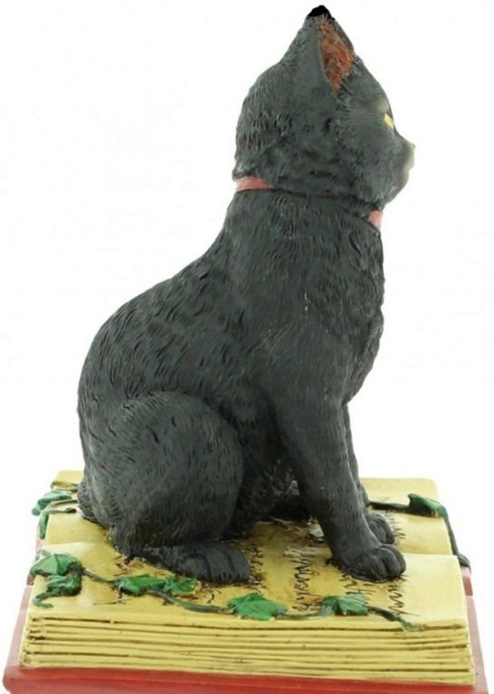Photo of Black Cat on Spell Book Figurine 12cm
