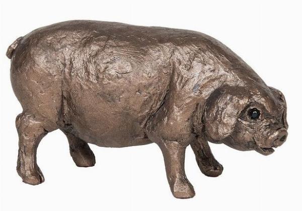 Photo of Boris the Pig Standing Bronze Figurine small (Thomas Meadows) Frith Minima