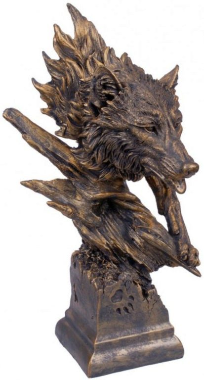 Photo of Bronzed Wolf Bust 40 cm