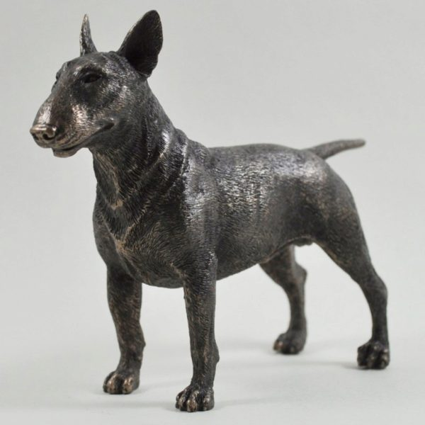 Photo of Bull Terrier Standing Bronze Dog Sculpture 19cm