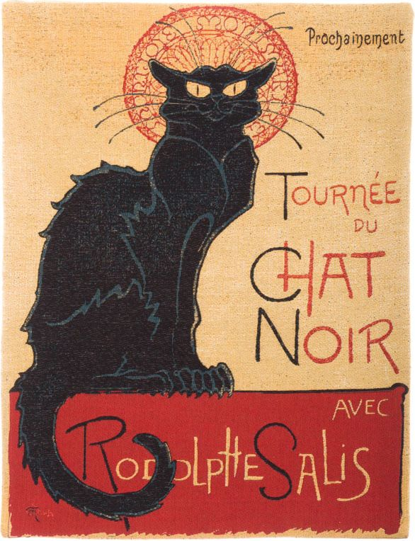 Phot of Chat Noir Wall Tapestry