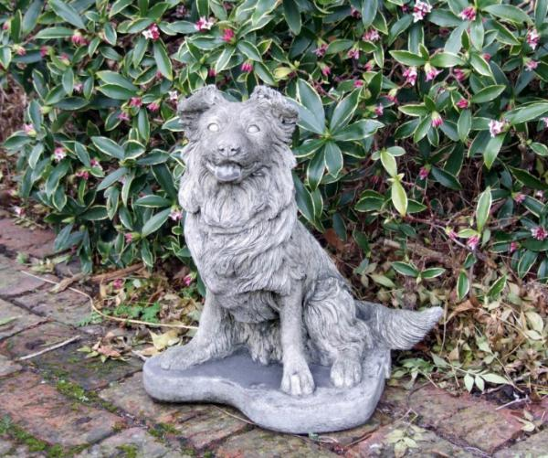 Photo of Collie Pup Dog Stone Statue