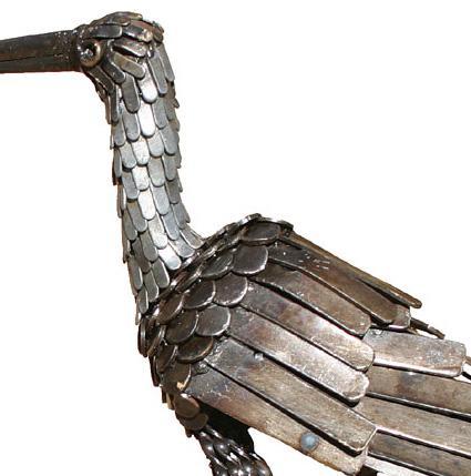 Photo of Curlew Bird Metal Garden Ornament (Upright)
