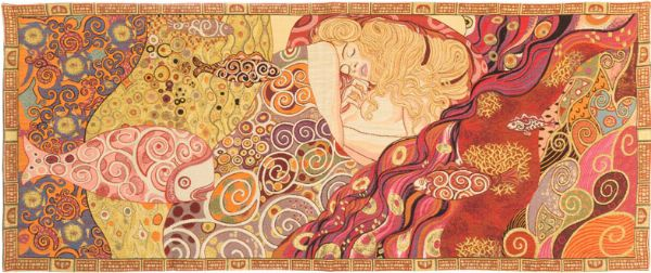 Phot of Danaë By Gustav Klimt Wall Tapestry