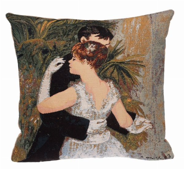 Phot of Dance In The City By Pierre-Auguste Renoir Tapestry Cushion