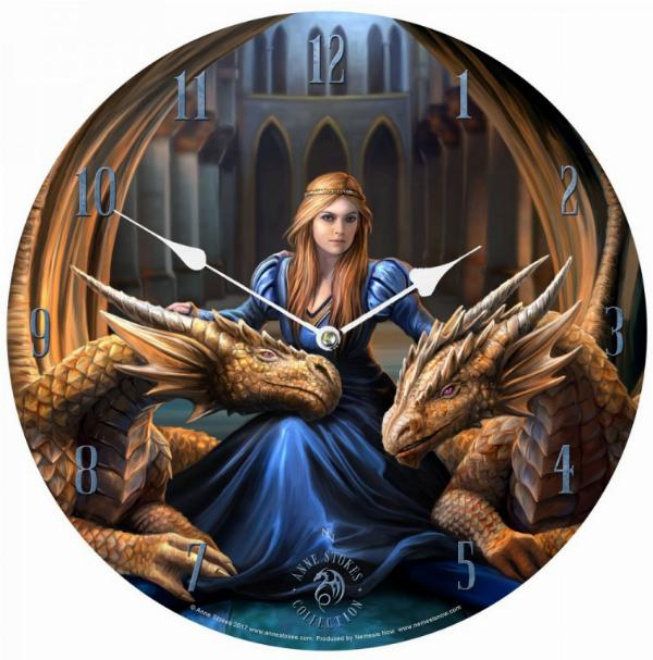 Photo of Fierce Loyalty Dragons Clock 34 cm (Anne Stokes)