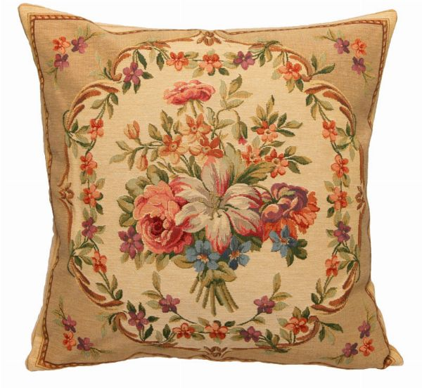 Phot of Flowers Tapestry Cushion Ii