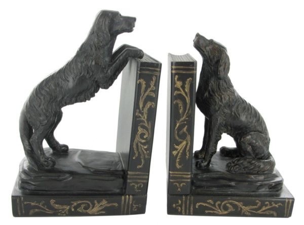 Photo of Golden Retriever Bookends Bronze