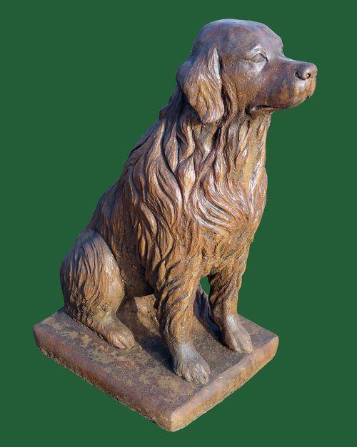 Phot of Golden Retriever Dog Stone Sculpture