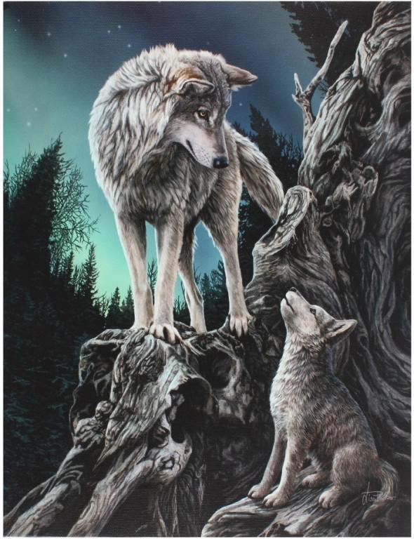 Photo of Guidance Canvas Wolf Picture (Lisa Parker) 25 x 20 cm
