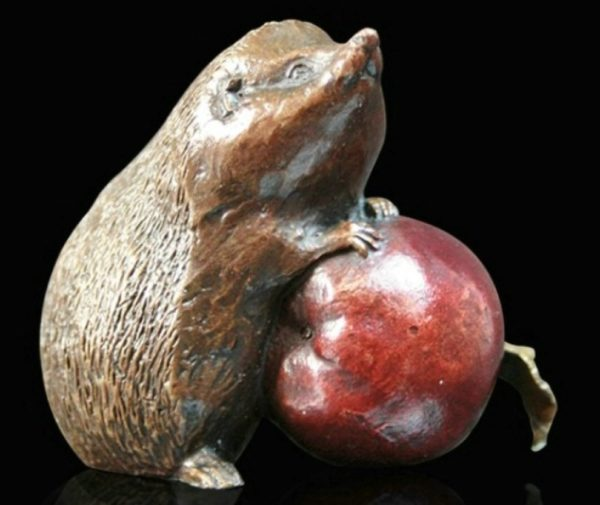 Photo of Hedgehog with Apple Small Bronze Figurine (Limited Edition) Michael Simpson