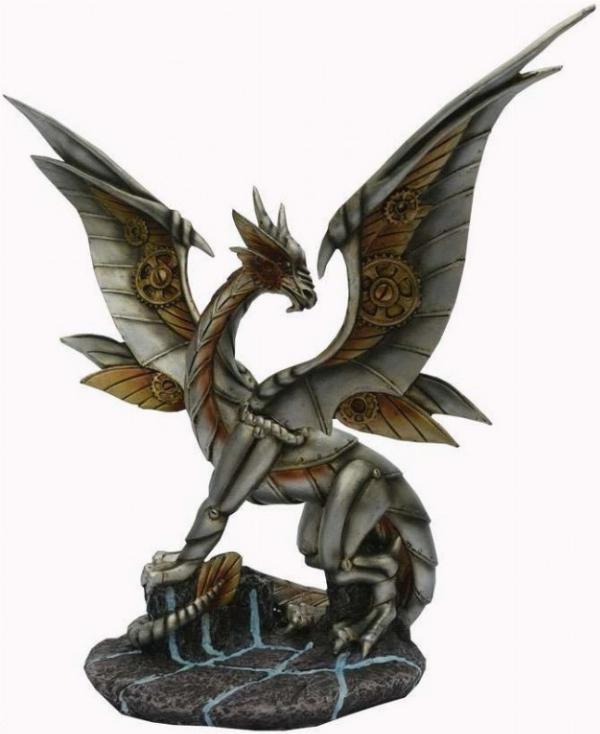 Photo of Iron Wing Steampunk Dragon Bronze Figurine