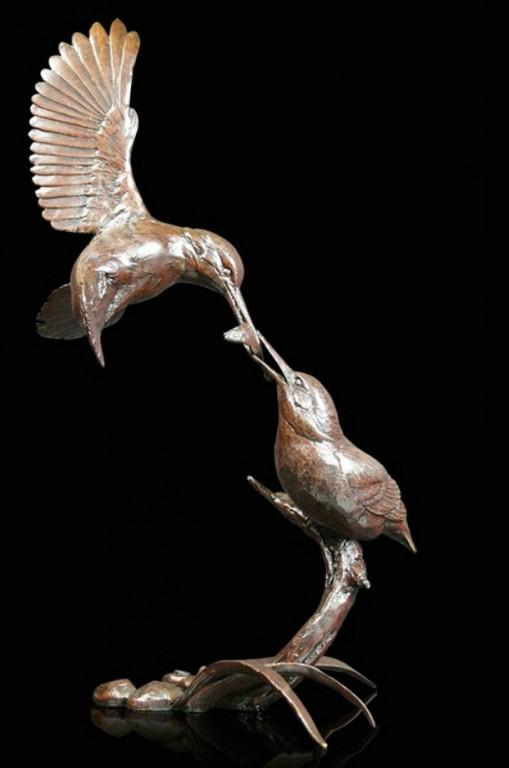Photo of Kingfisher Waters Edge Figurine (Limited Edition) Michael Simpson 25cm