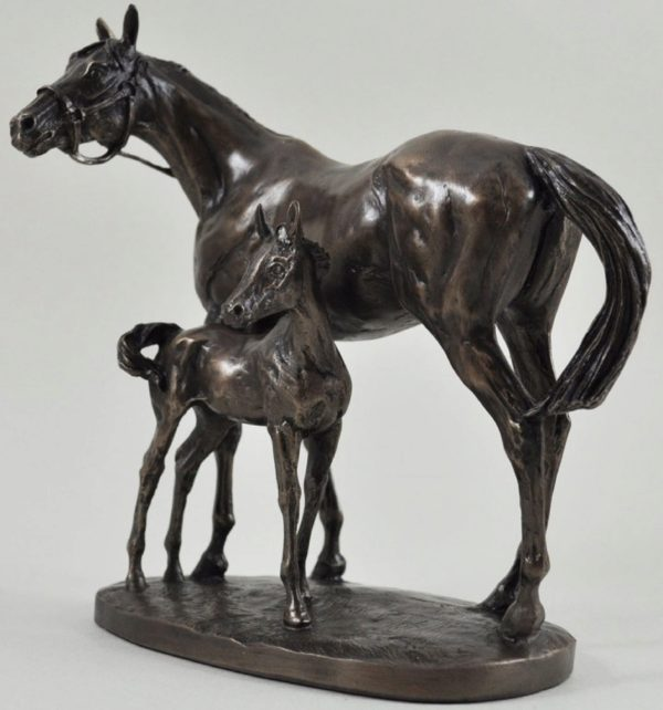 Photo of Mare and Foal Horse Figurine (David Geenty)
