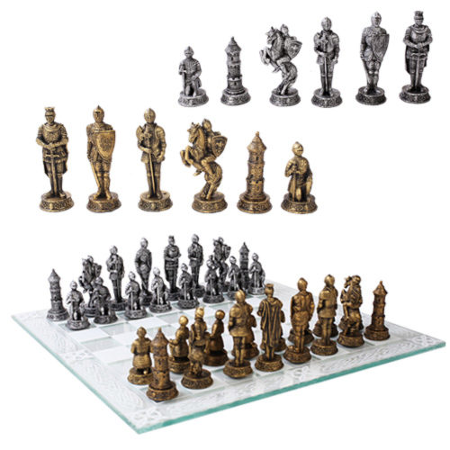 Photo of Medieval Knight Chess Set