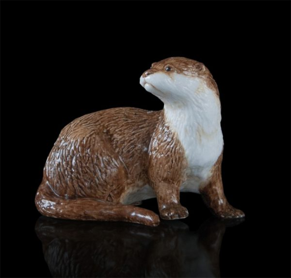 Photo of Otter Hand Painted Fine Bone China Miniature Figurine