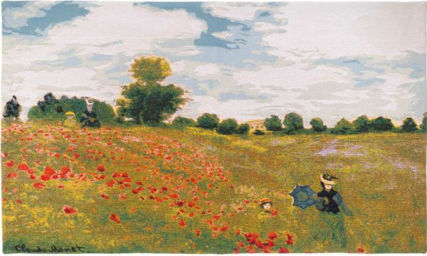 Phot of Poppies By Monet Wall Tapestry