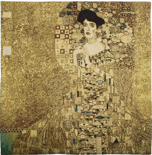 Phot of Portrate Of Adele Bloch Bauer I By Gustav Klimt Wall Tapestry