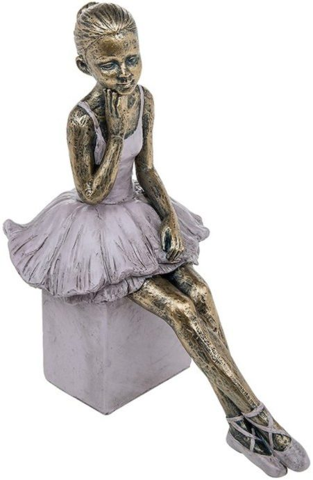 Photo of Pretty Ballerina Thinking Bronze Figurine 22cm