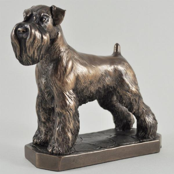 Photo of Schnauzer Bronze Dog Sculpture (David Geenty)