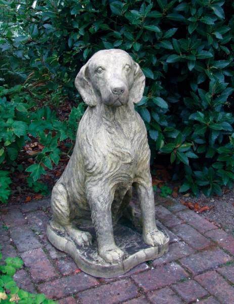 Photo of Setter Dog Stone Statue