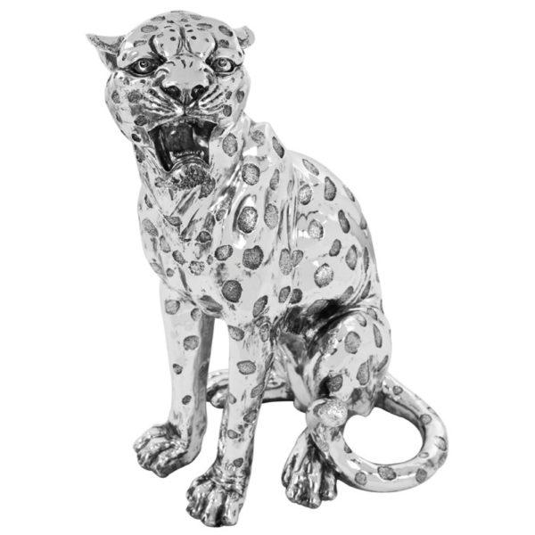 Photo of Silver Art Leopard Statue 52 cm