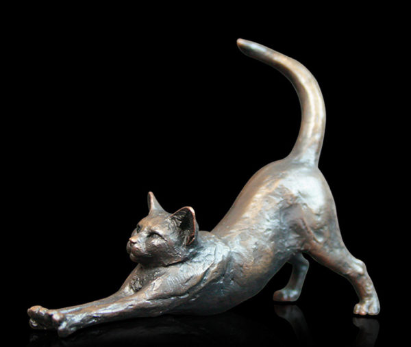 Photo of Small Cat Stretching Figurine (Limited Edition) Michael Simpson