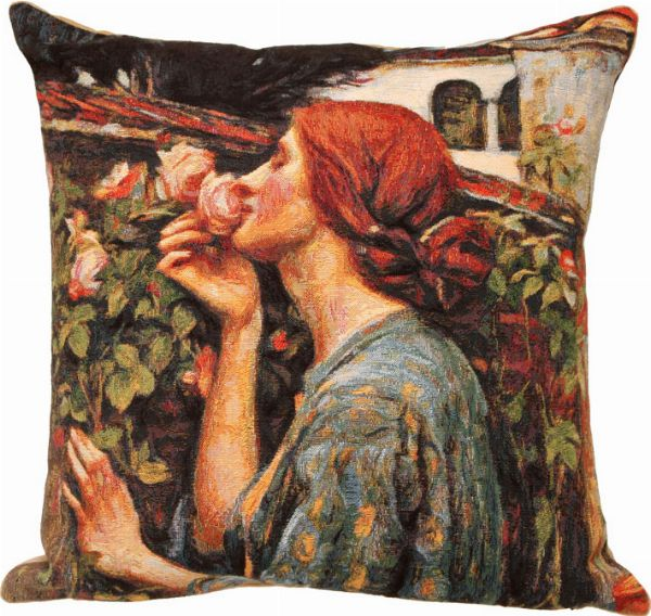 Phot of Soul Of The Rose By Waterhouse Tapestry Cushion