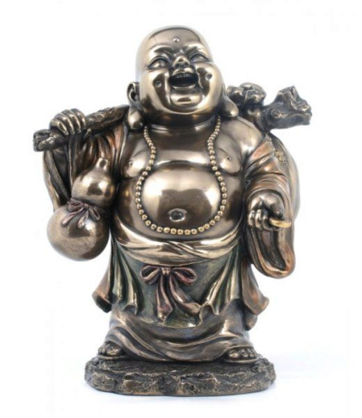 Photo of Standing Buddha Bronze Figurine