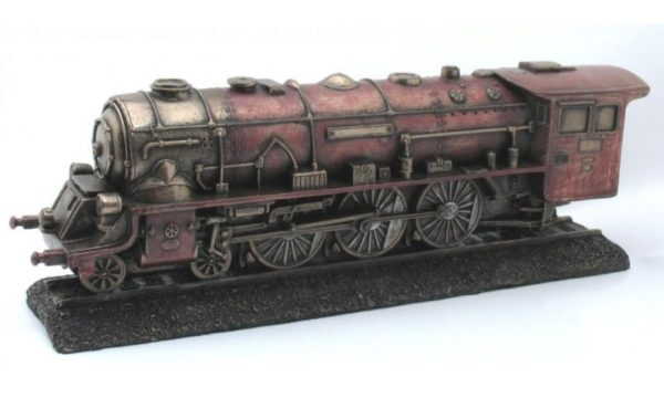 Photo of Steam Train Bronze Figurine 28cm