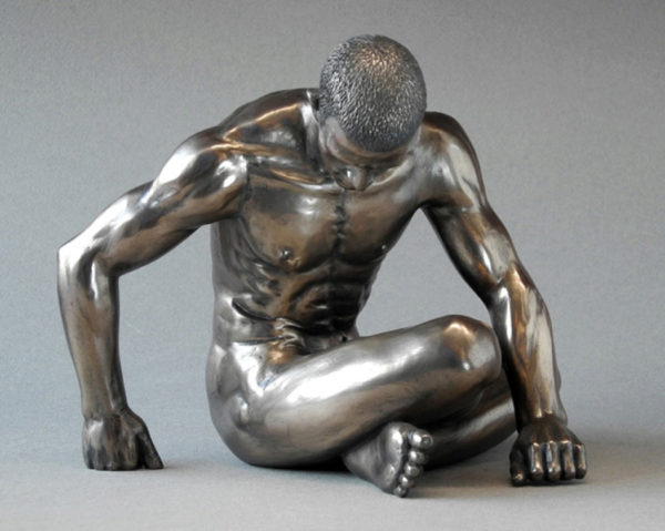 Photo of Strength Nude Male Body Talk Bronze Figurine