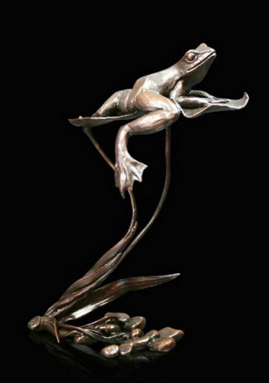 Photo of Summer Reflections Frog Bronze Figurine (Limited Edition) Michael Simpson