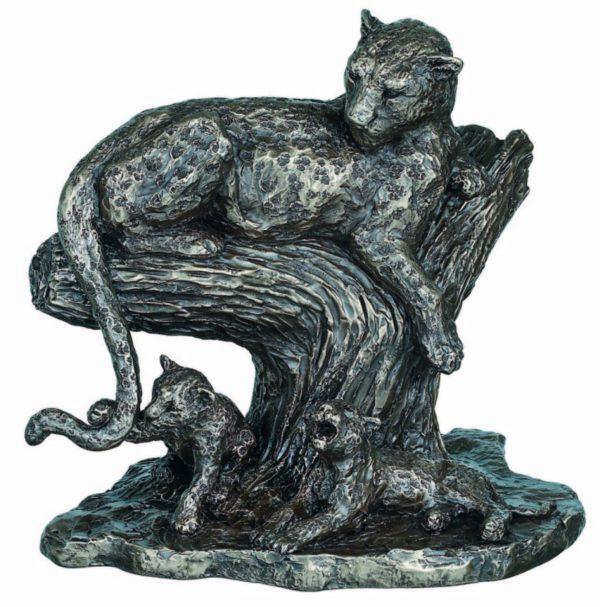 The Open Plains African Big Cat Bronze Figurine Large