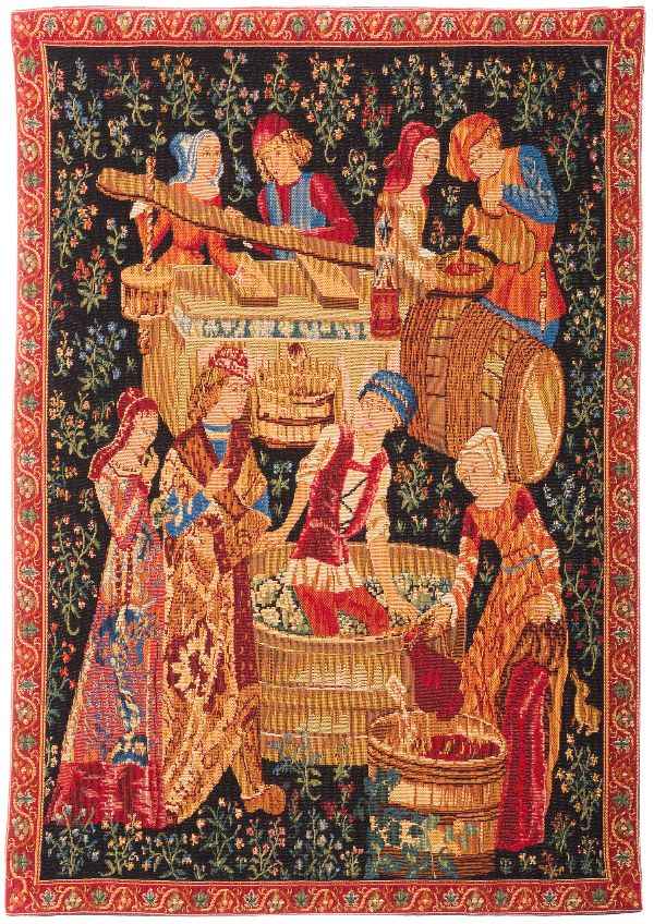Phot of The Pressing Grape Harvest Wall Tapestry