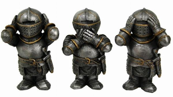 Photo of Three Wise Knights Figurine
