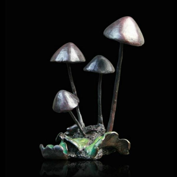 Photo of Toadstools Bronze Sculpture (Limited Edition) Michael Simpson Nature Trail