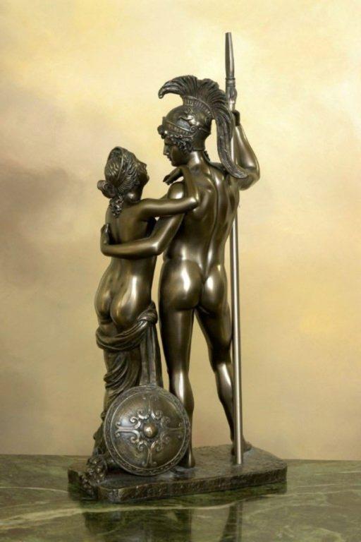 Photo of Venus and Mars Bronze Statue 37 cm