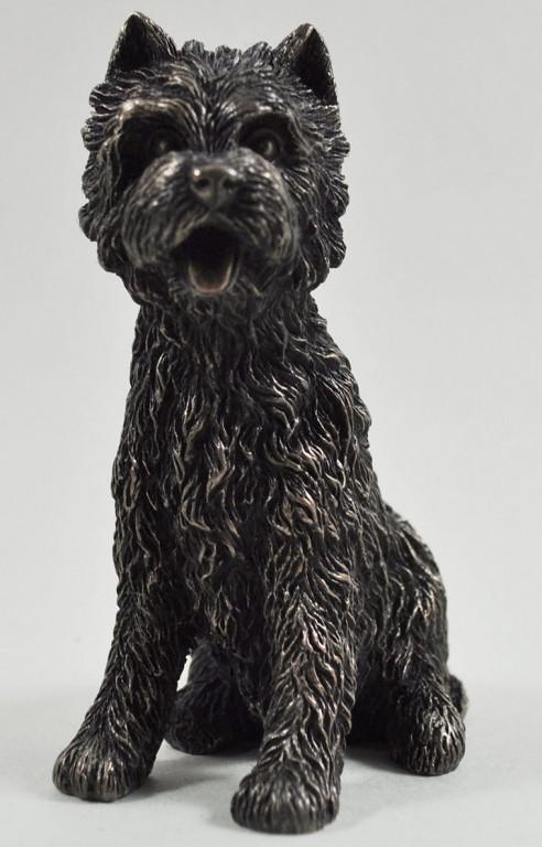 Photo of West Highland Terrier Sitting Bronze Dog Sculpture Small